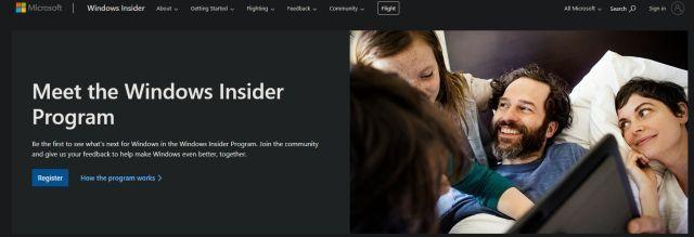 Join window insider program